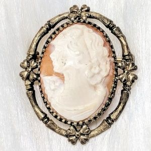 Jewelry - Signed Sterling CF CO Antique Cameo Pendant